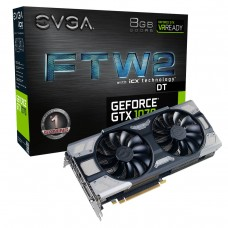 Placa de Vídeo PCI-Express 8 Gb GF GTX1070 FTW2 DT Gaming 1506 MHz 256 Bits EVGA